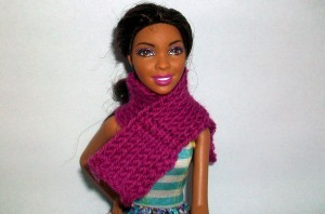 Tunisian Block Scarf for Barbie ~ Candace - Crochet Spot