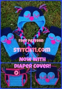6 Month Owl Baby Legs and Hat Set ~ Stitch11