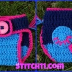 Owl Diaper Cover – 0-9 months ~ Stitch11