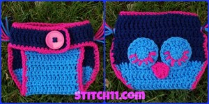 Owl Diaper Cover - 0-9 months ~ Stitch11