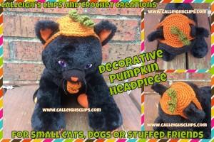 Decorative Pumpkin Headpiece ~ Elisabeth Spivey - Calleigh's Clips & Crochet Creations