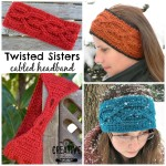 Twisted Sisters Cabled Headband ~ Creative Threads by Leah - Cre8tion Crochet
