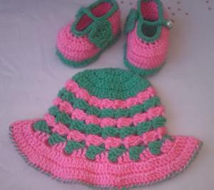 Hat and Booties ~ aamragul - Crochet/Crosia Home