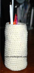 Crochet Pen and Pencil Holder ~ Crochet Jewel