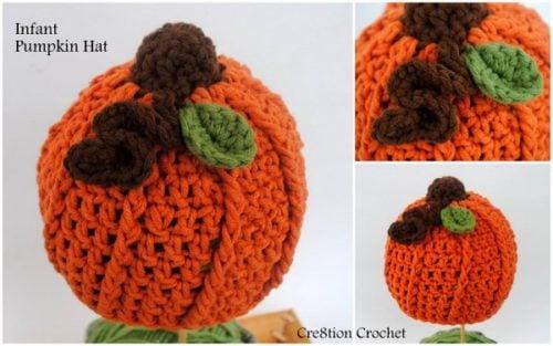 Infant Pumpkin Hat Free Crochet Pattern