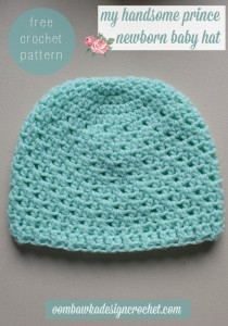 My Handsome Prince Newborn Baby Hat ~ Oombawka Design