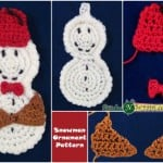 Snowman Ornament with a Bowtie and Fez ~ Stitches 'N' Scraps