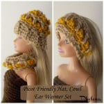 Picot Friendly Hat & Cowl for the Fashion Doll ~ Rhelena - CrochetN'Crafts