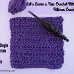 Extended Single Crochet Stitch Tutorial & Dishcloth ~ The Stitchin' Mommy