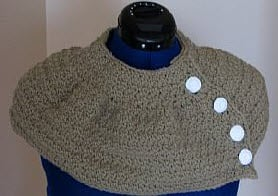Side Button Shorty Poncho or Collar by Donna's Crochet Designs
