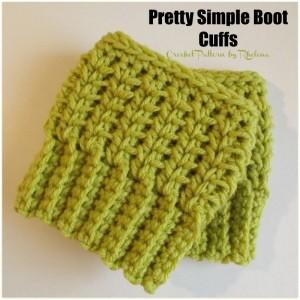 Pretty Simple Boot Cuffs by Rhelena of CrochetN'Crafts.