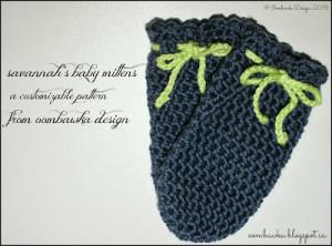 Savannah's Baby Mittens ~ Oombawka Design