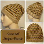 Seasonal Stripes Beanie ~ Rhelena - CrochetN'Crafts