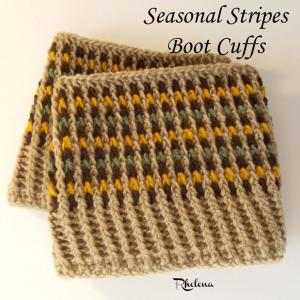 Seasonal Stripes Boot Cuffs ~ Rhelena - CrochetN'Crafts