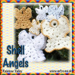 Christmas Shell Angel by Rainbow Valley