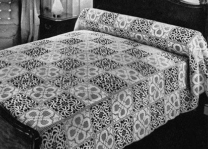 Free Crochet Bedspread Motifs