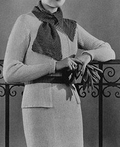 Tuxedo Dress | Free Vintage Crochet