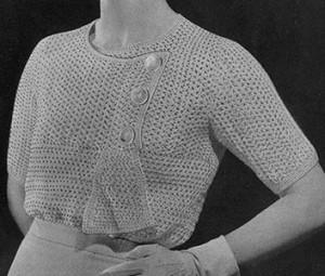 Charmer Sweater ~ Free Vintage Crochet
