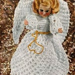 Tree Top Christmas Angel by Free Vintage Crochet