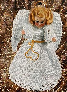 Tree Top Christmas Angel by Free Vintage Crochet