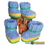 Striped Booties ~ Stitches 'N' Scraps
