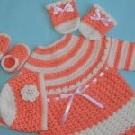 Baby Dress with Hat, Mittens and Booties ~ Aamragul – Crochet/Crosia Home