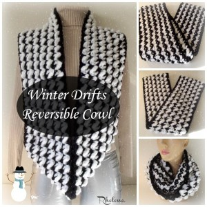 Winter Drifts Reversible Cowl ~ Rhelena - CrochetN'Crafts