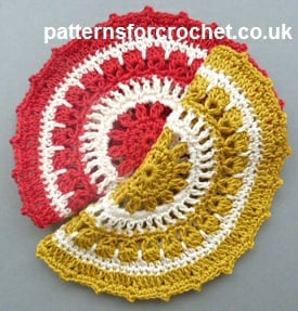 Round Dishcloth ~ Patterns For Crochet