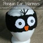 Penguin Ear Warmers by Cream Of The Crop Crochet
