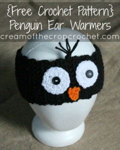 Penguin Ear Warmers by Cream Of The Crop Crochet