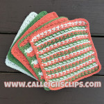 Poppy Nubbin Washcloth by Elisabeth Spivey of Calleigh's Clips & Crochet Creations