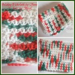 Holiday Dishcloth by Home Made Hats by Cheryl