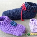 Non-Stop Slippers - Baby Sizes by Stitches 'N' Scraps