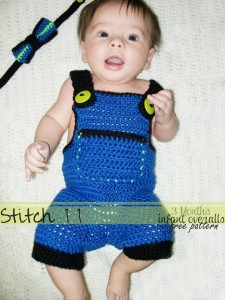 Infant Overalls - Size 3 Months by Stitch11