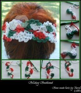 Holiday Headband by Home Made Hats by Cheryl