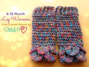 6-12 Month Leg Warmers by Stitch11