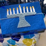 Menorah Gift Tie by Randy Cavaliere for Red Heart