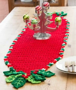 Holly Trim Table Runner by Michele Wilcox for Red Heart
