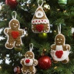 Gingerbread Tree Ornaments by Michele Wilcox for Red Heart