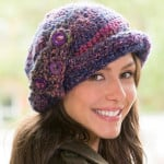 Buttoned Cloche Hat by Jo Eaton for Red Heart