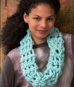 Cool Finger Crochet Cowl by Red Heart