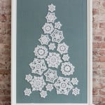 Tree of Snowflakes by Katherine Eng for Red Heart