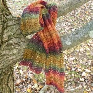 Autumn Harvest Scarf by Amy of Crochet Spot