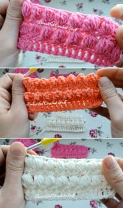 How to Make Puff, Bobble and PopCorn Stitches by Jane Green of Beautiful Crochet Stuff