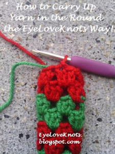 How to Carry Up Yarn in the Round by EyeLoveknots