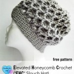 Elevated Honeycomb Slouchy Hat by Erangi Udeshika of Crochet For You