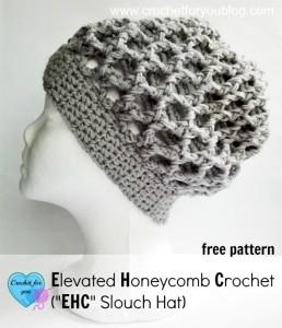 Elevated Honeycomb Slouchy Hat by Erangi Udeshika of Crochet For You