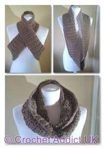 Fingers Crossed Infinity Scarf by Crochet Addict