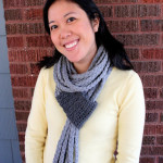 Crochet and Braid T-Shirt Scarf by One Dog Woof