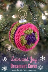 Love and Joy Ornament by The Stitchin' Mommy